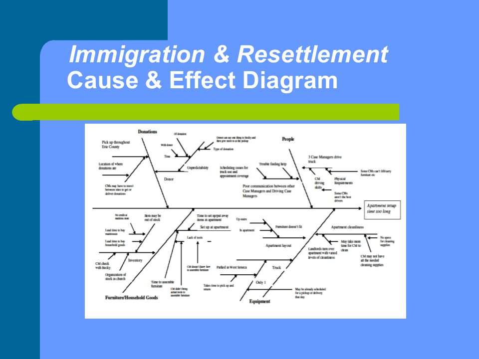 Immigration & Resettlement Cause & Effect Diagram