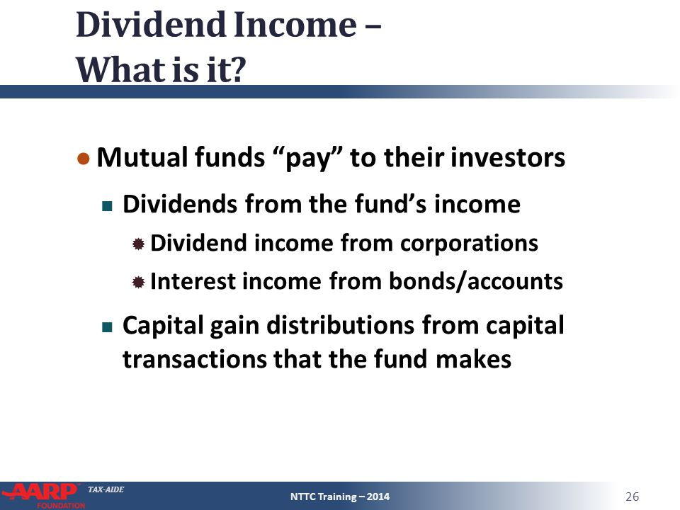 TAX-AIDE Dividend Income – What is it.