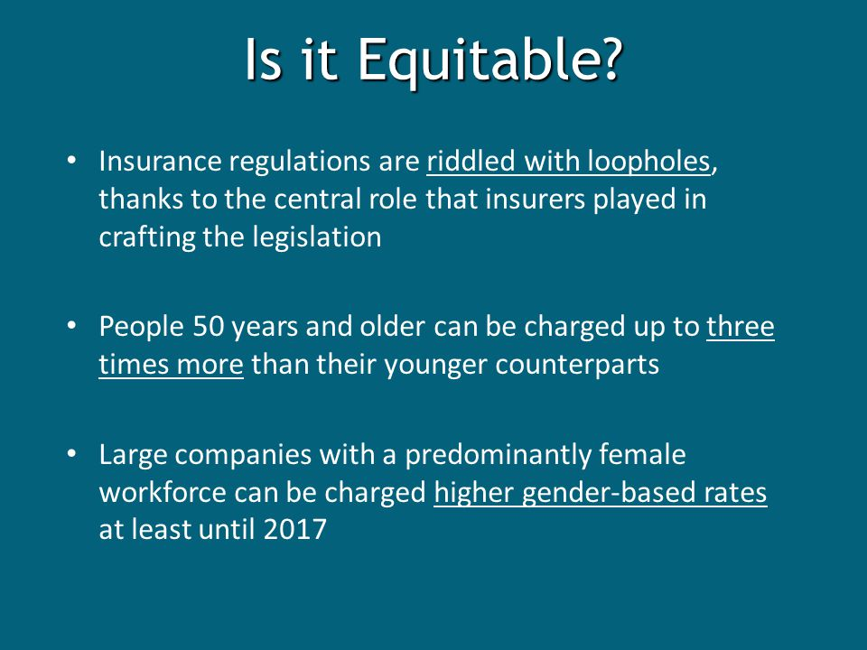 Is it Equitable.