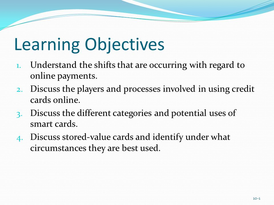 Learning Objectives 5.