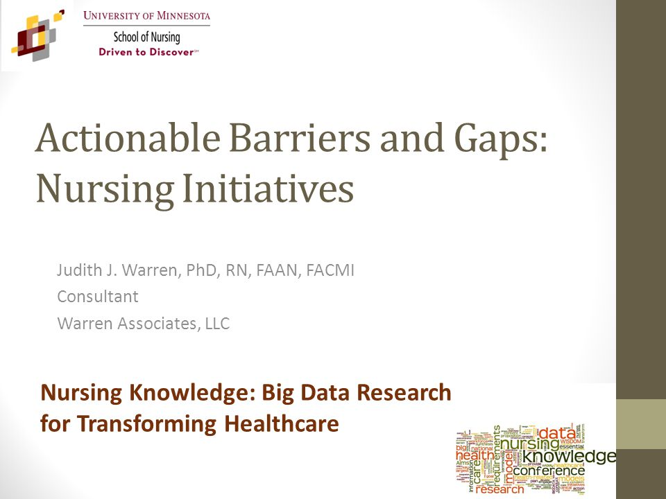 Actionable Barriers and Gaps: Nursing Initiatives Judith J.