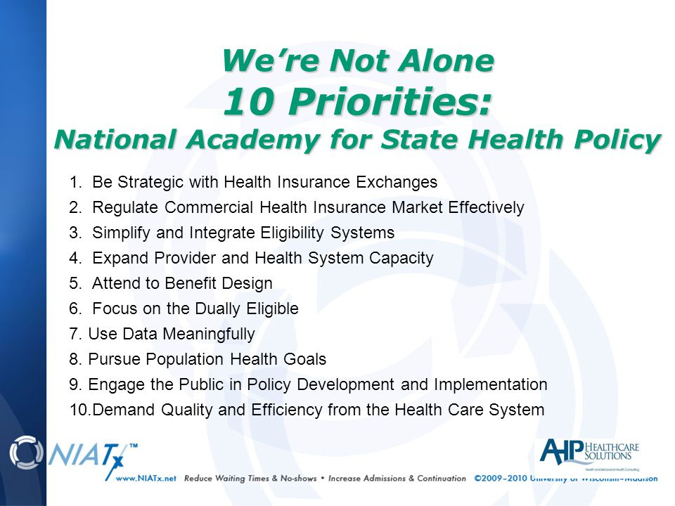 1. Be Strategic with Health Insurance Exchanges 2.