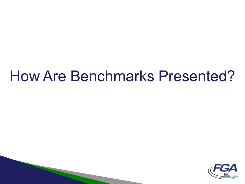 How Are Benchmarks Presented?