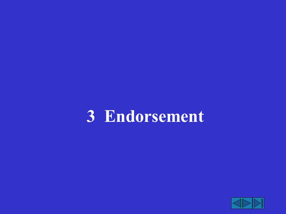 3 Endorsement