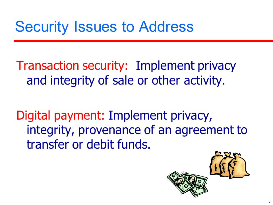 16 E-Payment System Characteristics l Who assumes the risk.