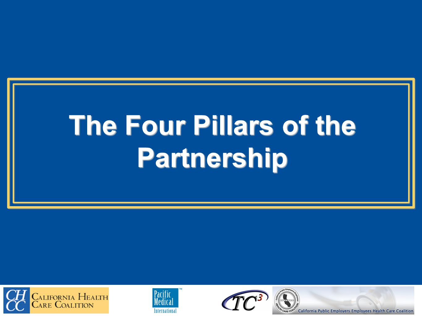 The Four Pillars of the Partnership