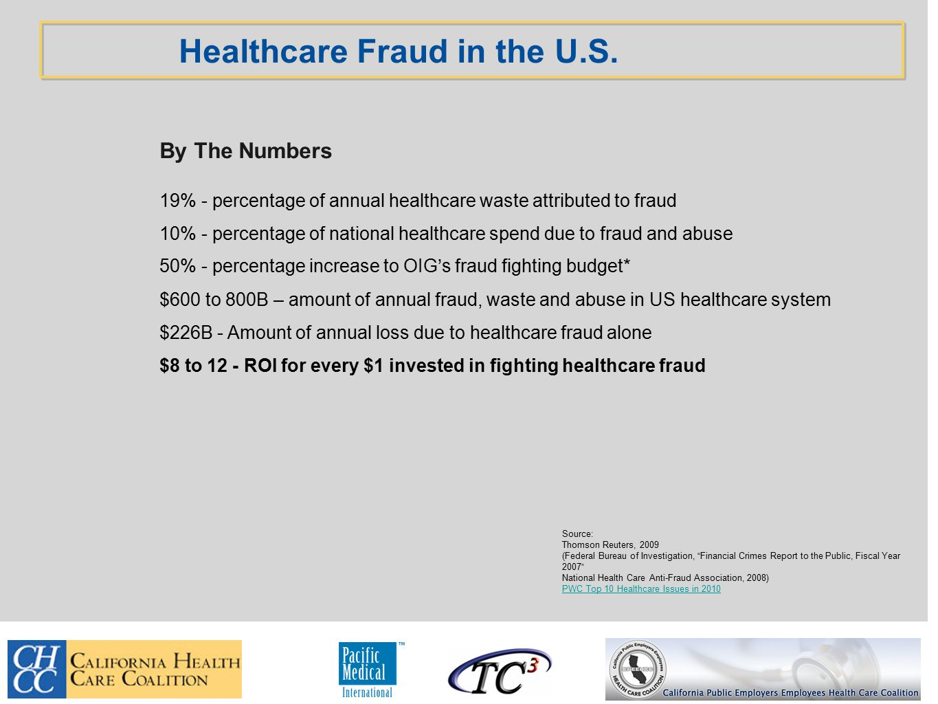 Healthcare Fraud in the U.S.