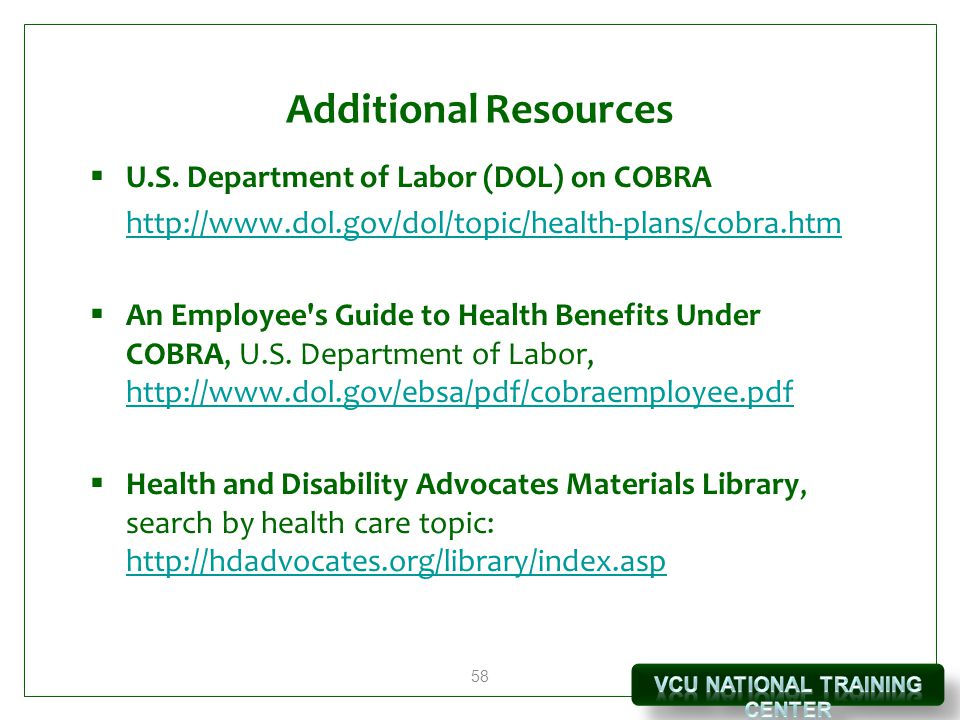 58 Additional Resources  U.S.