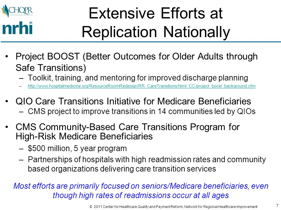 48 © 2011 Center for Healthcare Quality and Payment Reform, Network for Regional Healthcare Improvement Will Hospitals Provide Ongoing Financial Support.