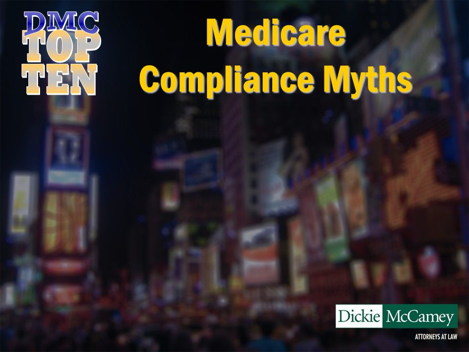 Medicare Compliance Myths