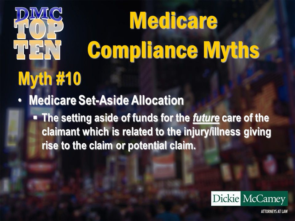 Medicare Compliance Myths Myth #7 However, CMS notes on its web site, in pertinent part, as follows: However, CMS notes on its web site, in pertinent part, as follows: CMS wishes to stress that this is a CMS workload review threshold and not a substantive dollar or 'safe harbor' threshold.