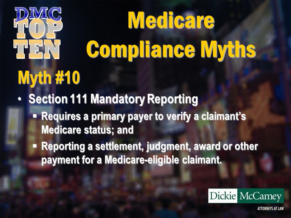 Myth #3 I can wait until the end of the case to obtain conditional lien information from Medicare.