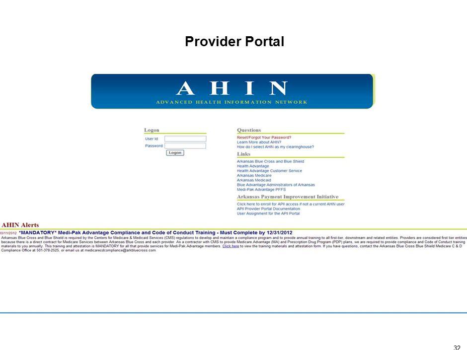 32 Provider Portal