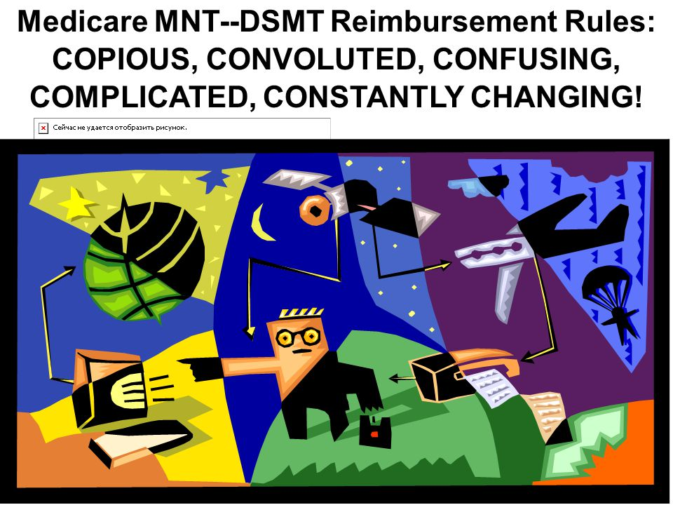 Medicare MNT--DSMT Reimbursement Rules: COPIOUS, CONVOLUTED, CONFUSING, COMPLICATED, CONSTANTLY CHANGING!