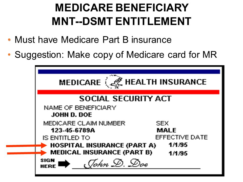 MEDICARE TIMEFRAME CHANGES for FOLLOW-UP DSMT: EXAMPLE Pt Completes Initial 10 Hrs That Spans 2 Yrs: 2012 and 2013: First visit in April 2012 Completes initial 10 hrs in April 2013 Eligible for f/up in May, 2013 Completes f/up in Dec., 2013 Eligible for next yr f/up in Jan., 2014 Pt Completes Initial 10 Hrs in Same Calendar Year: First visit in April 2012 Completes initial 10 hrs in Dec., 2012 Eligible for f/up in Jan., 2013 Completes f/up in July 2013 Eligible for next yr f/up in Jan.