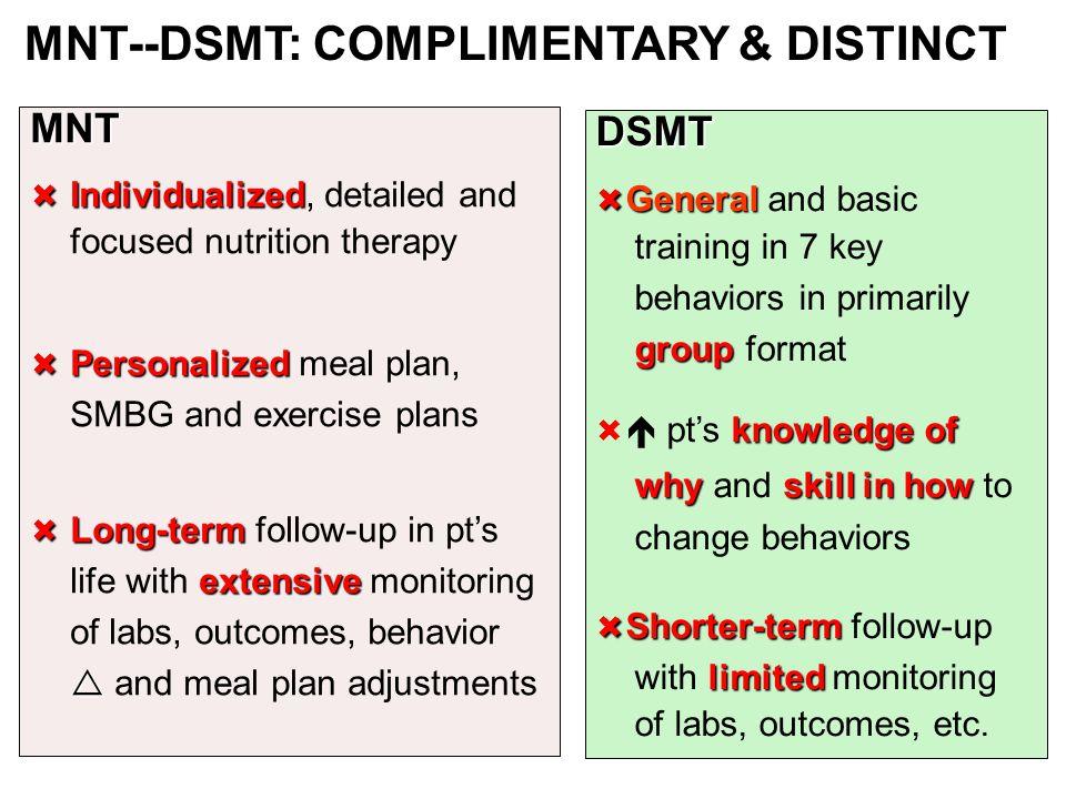 DIAGNOSES for MEDICARE MNT--DSMT