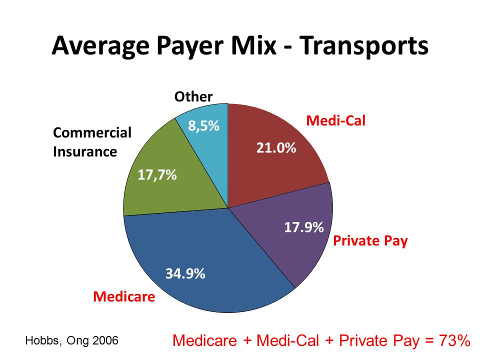 Average Payer Mix - Revenue Hobbs, Ong 2006