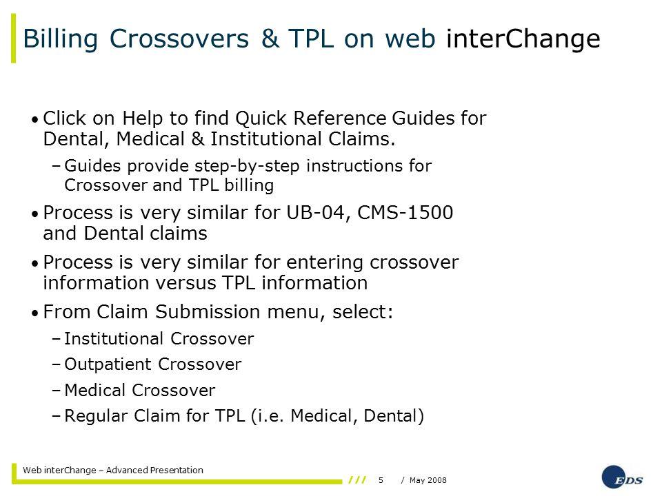 16/ May 2008 Web interChange – Advanced Presentation Attachment Information