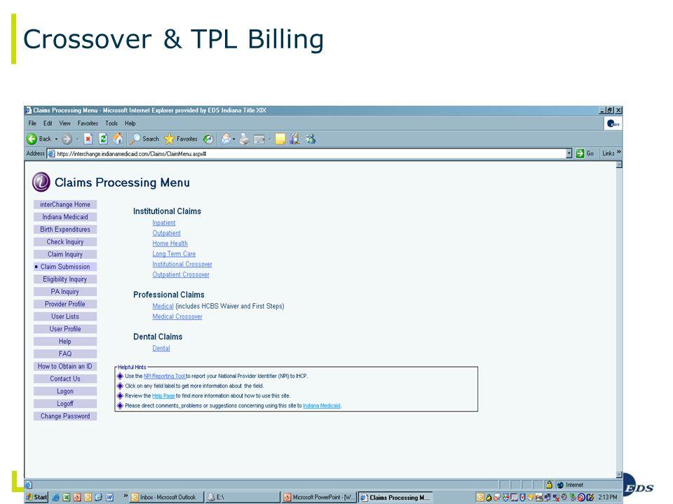 7/ May 2008 Web interChange – Advanced Presentation Crossover & TPL Billing
