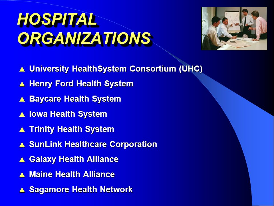 TEACHING HOSPITALS & ACADEMIC INSTITUTIONS  Massachusetts General Hospital (Harvard)  Brigham & Women's Hospital (Harvard)  Yale-New Haven Hospital  Mary Hitchcock Memorial Hospital (Dartmouth)  Vanderbilt University Hospital  Robert Wood Johnson University Hospital  University of Notre Dame  Medical College of Virginia Hospitals  University of Alabama-Birmingham Hospital  Erlanger Medical Center  Oregon Health Sciences University Hospitals
