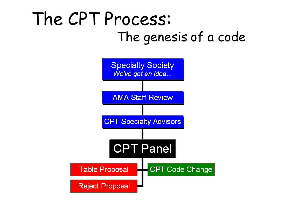 The CPT Process: The genesis of a code