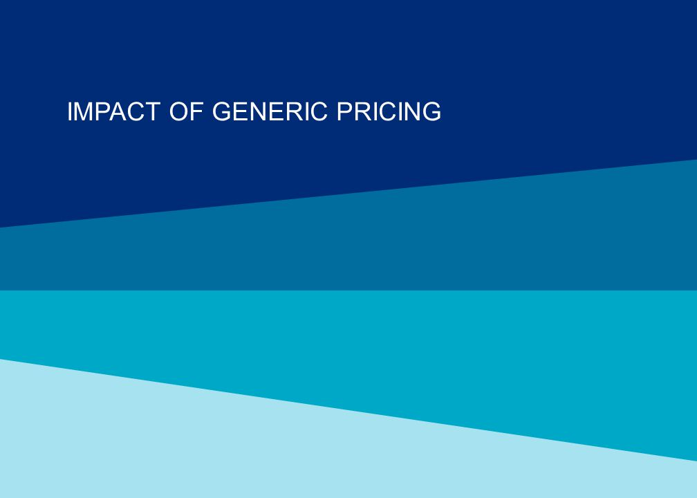 IMPACT OF GENERIC PRICING