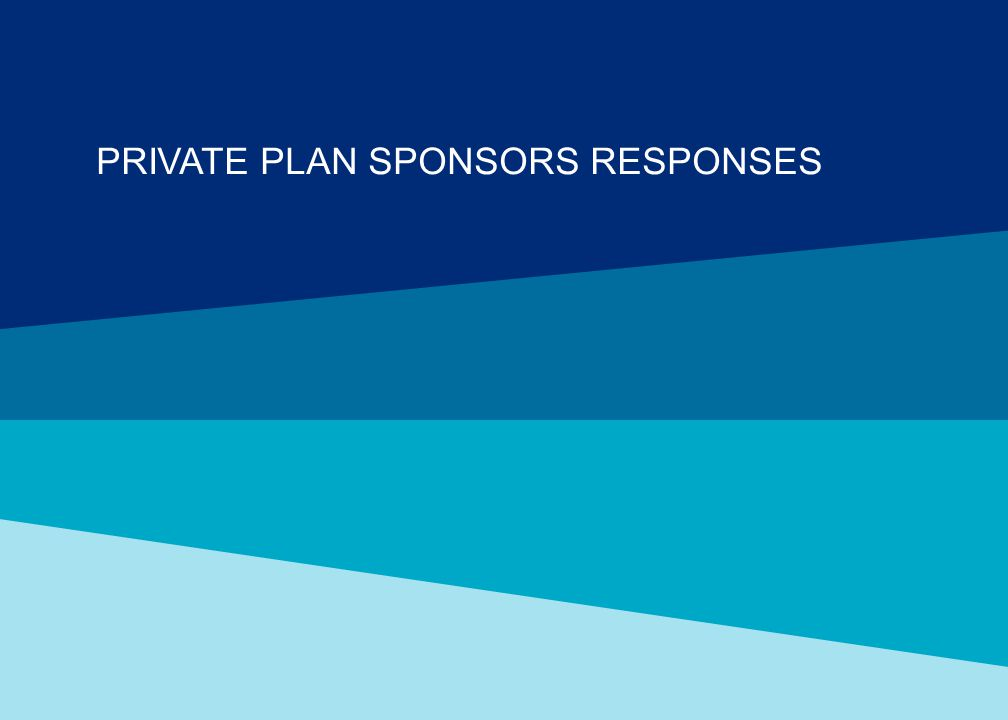 PRIVATE PLAN SPONSORS RESPONSES