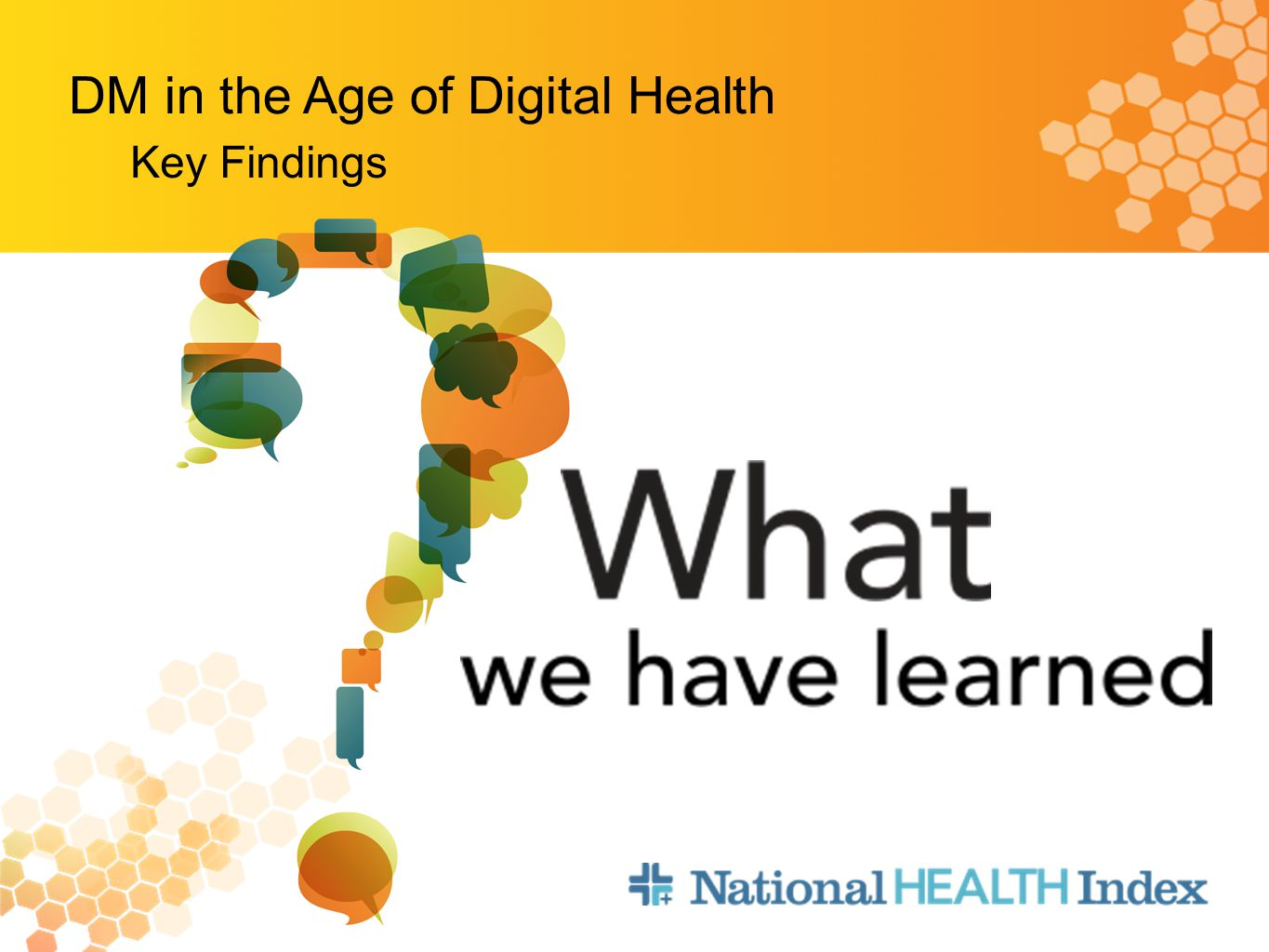 Key Findings DM in the Age of Digital Health