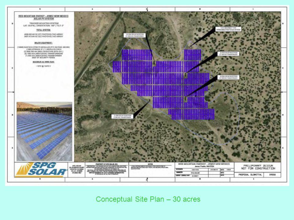 Conceptual Site Plan – 30 acres