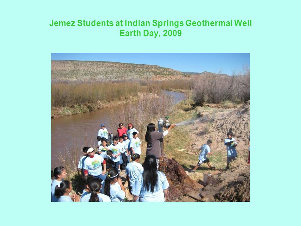 Jemez Students at Indian Springs Geothermal Well Earth Day, 2009