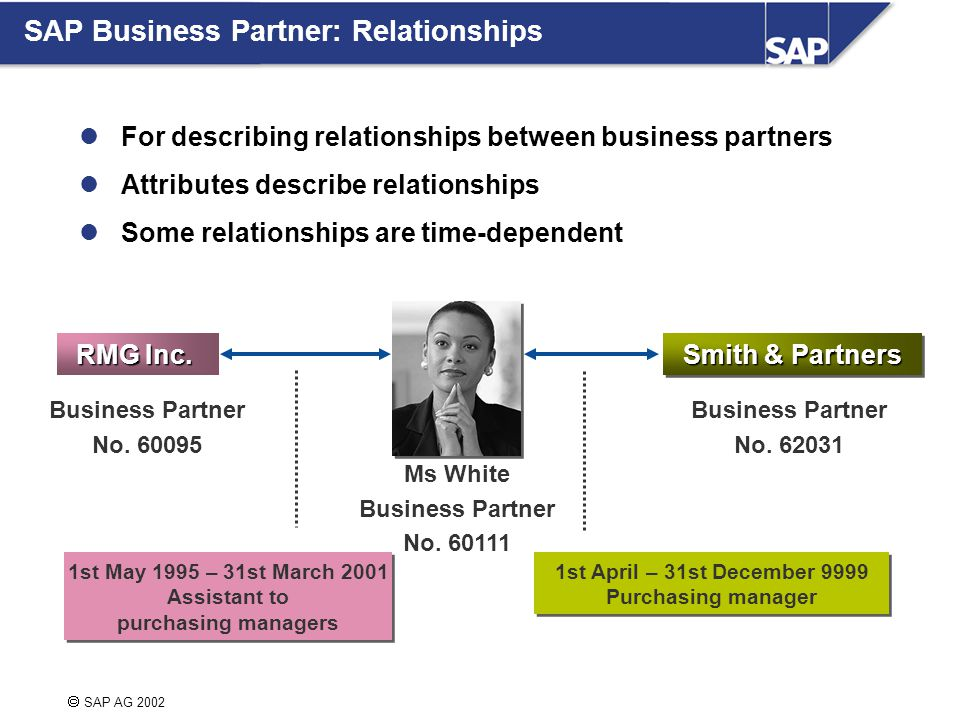  SAP AG 2002 RMG Inc. Smith & Partners Business Partner No.