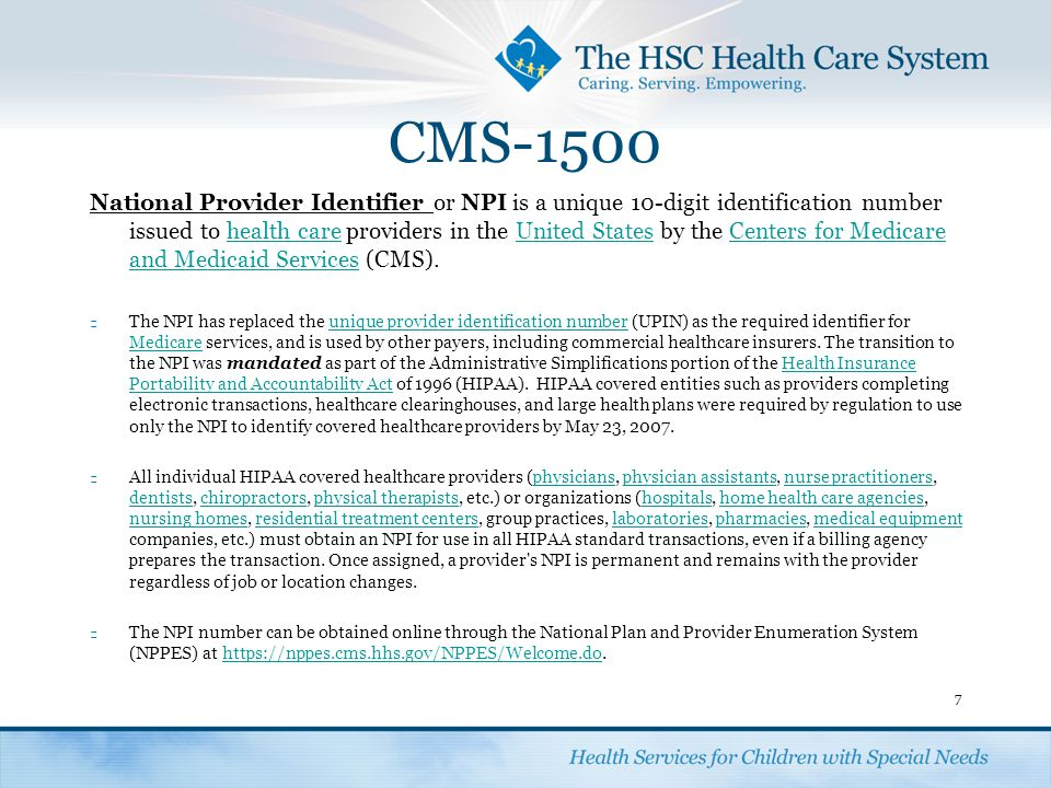 CMS-1500 Enter the carrier name and address where the claim is being submitted in the top right corner.