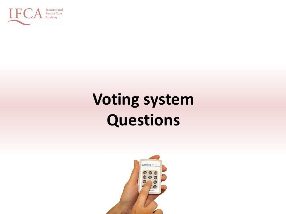 Voting system Questions