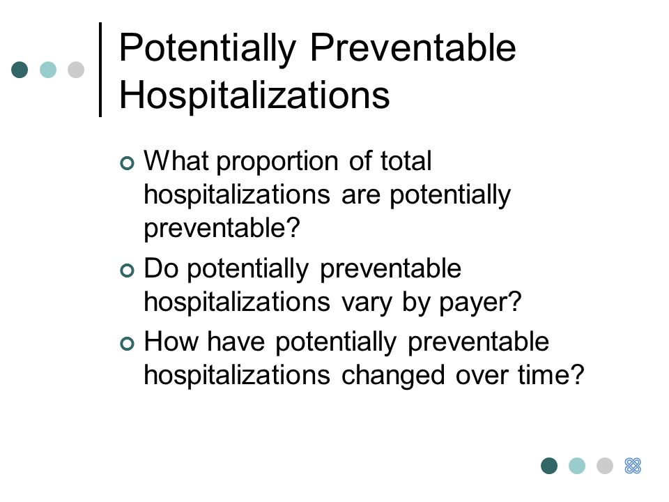 Potentially Preventable Hospitalizations What proportion of total hospitalizations are potentially preventable.