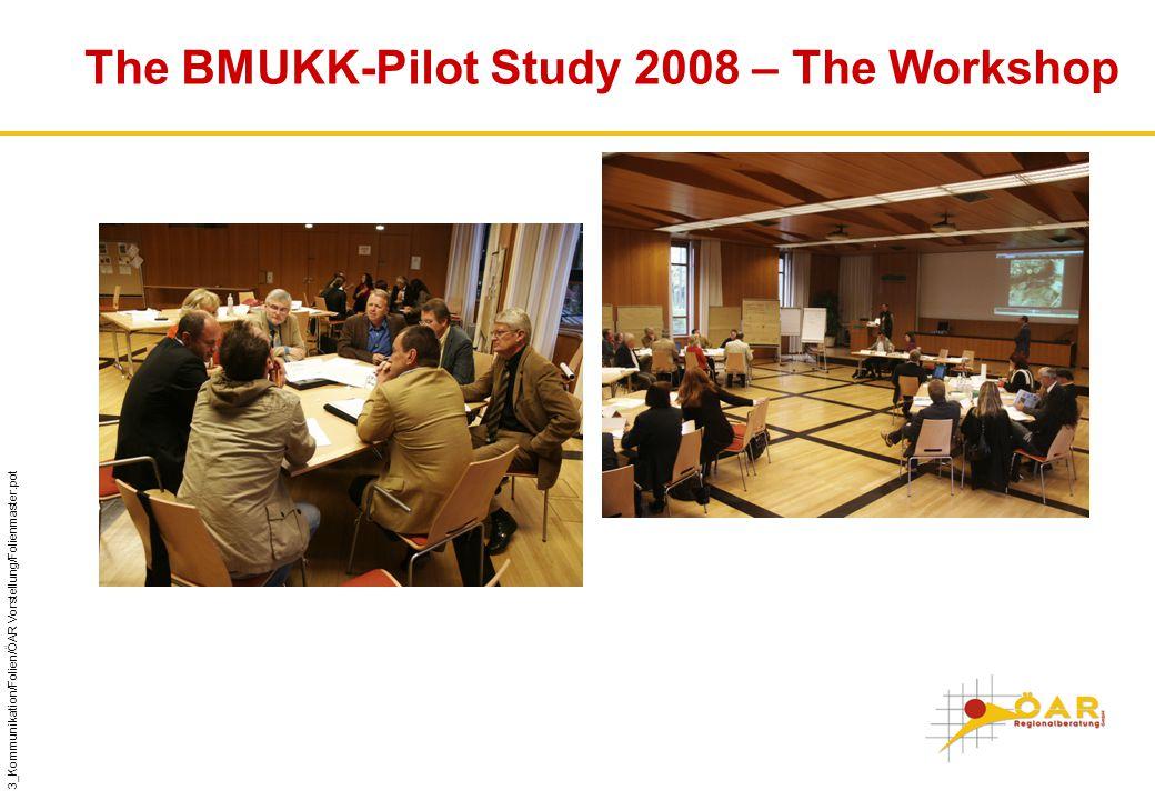 3_Kommunikation/Folien/ÖAR Vorstellung/Folienmaster.pot The BMUKK-Pilot Study 2008 – The Workshop