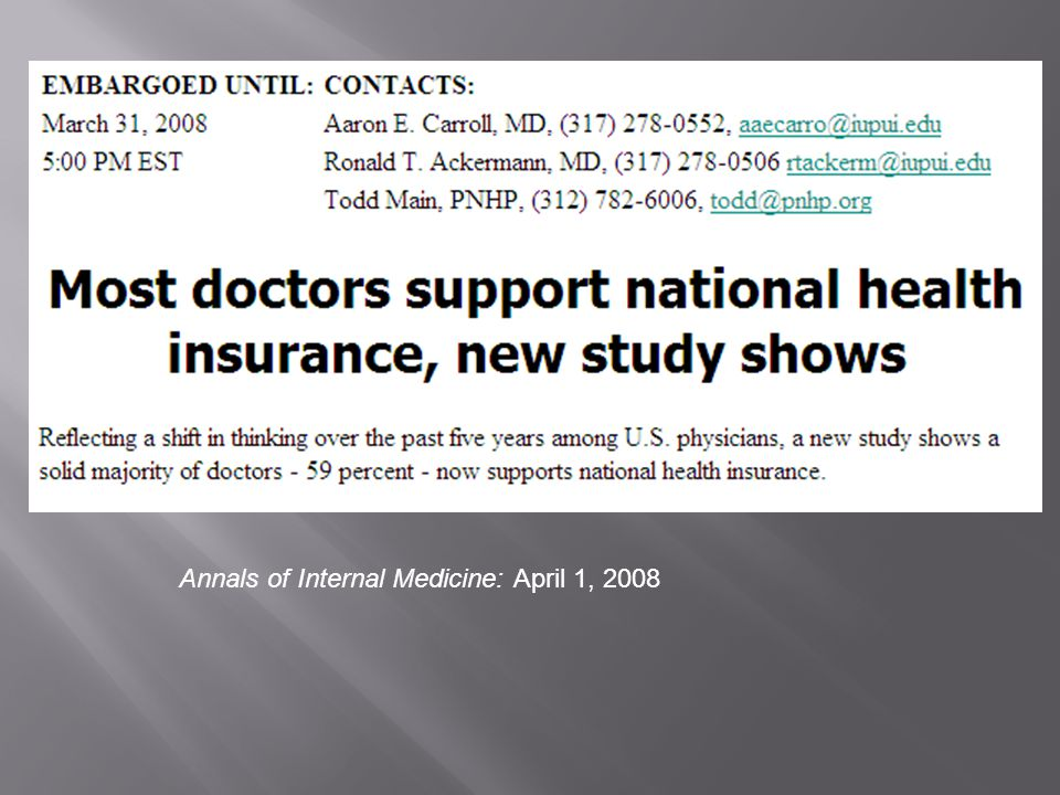 Annals of Internal Medicine: April 1, 2008