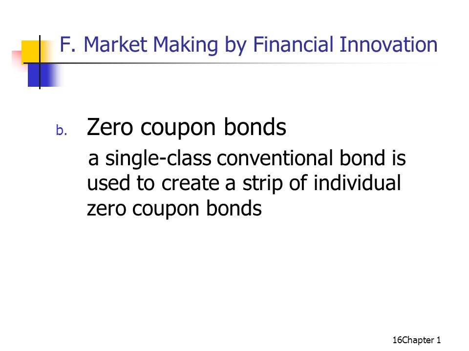 16Chapter 1 F. Market Making by Financial Innovation b.