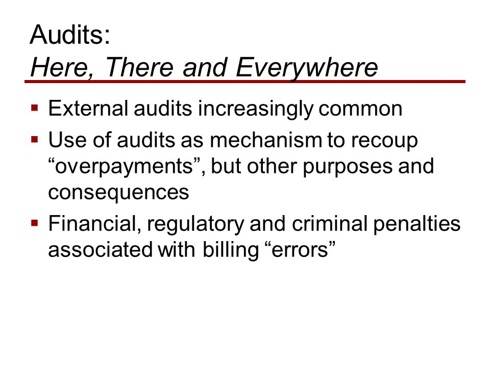 Medicare Audit Defenses: What Can Be Learned.