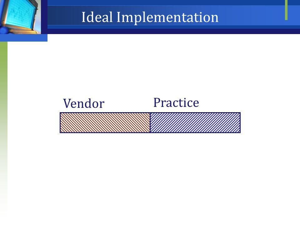 Ideal Implementation Vendor Practice