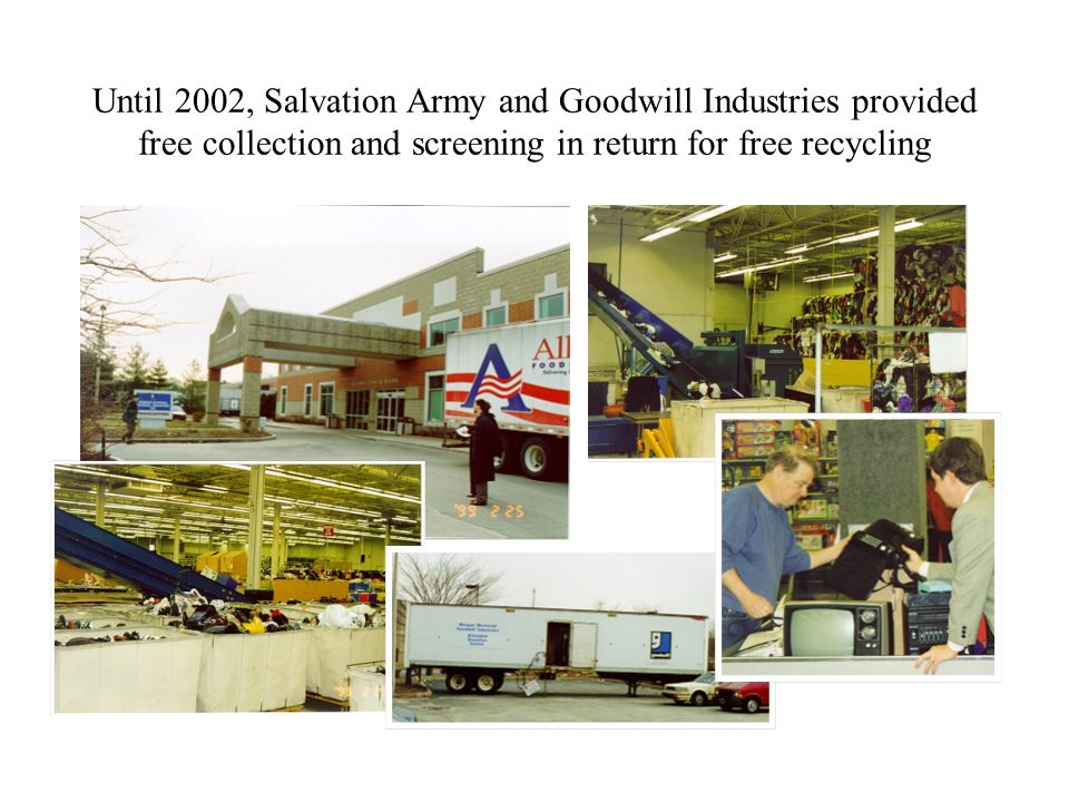 Salvation Army and Goodwill Industries screen donations to see if the equipment works, but does not do complex repairs.
