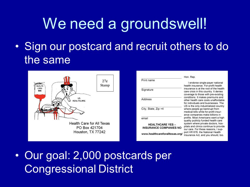 We need a groundswell.