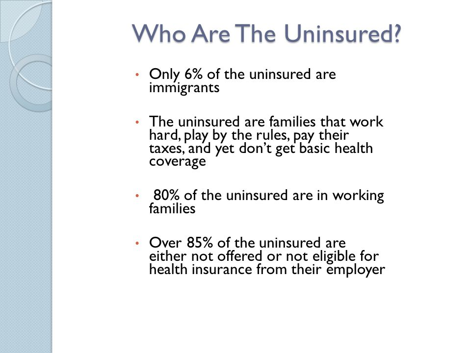 Who Are The Uninsured.