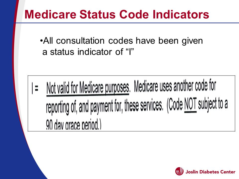 All consultation codes have been given a status indicator of I