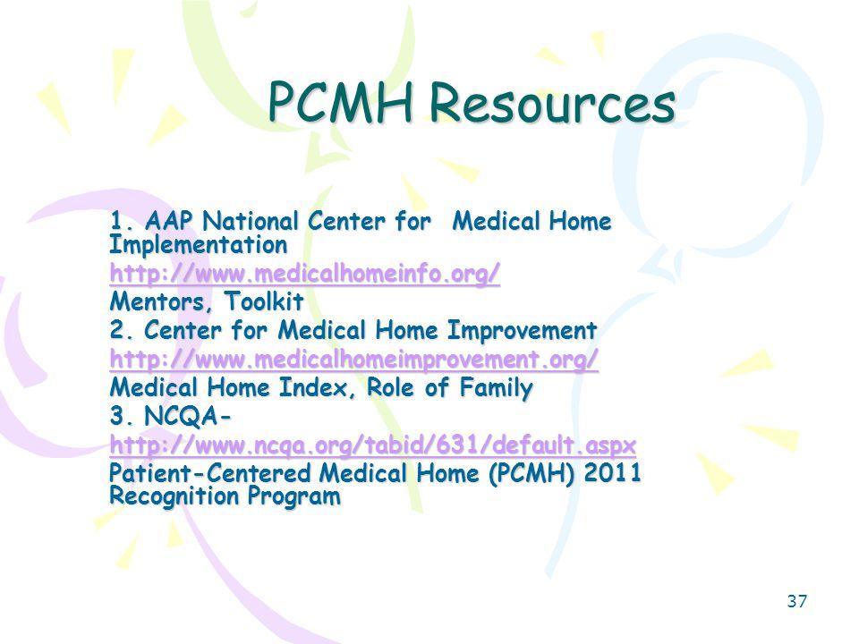 37 PCMH Resources 1.