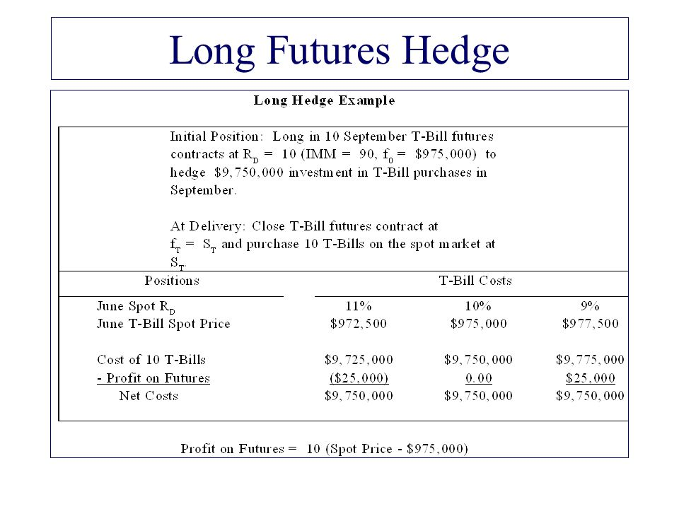 Long Futures Hedge