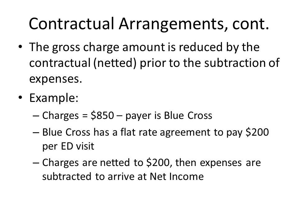 Contractual Arrangements, cont.