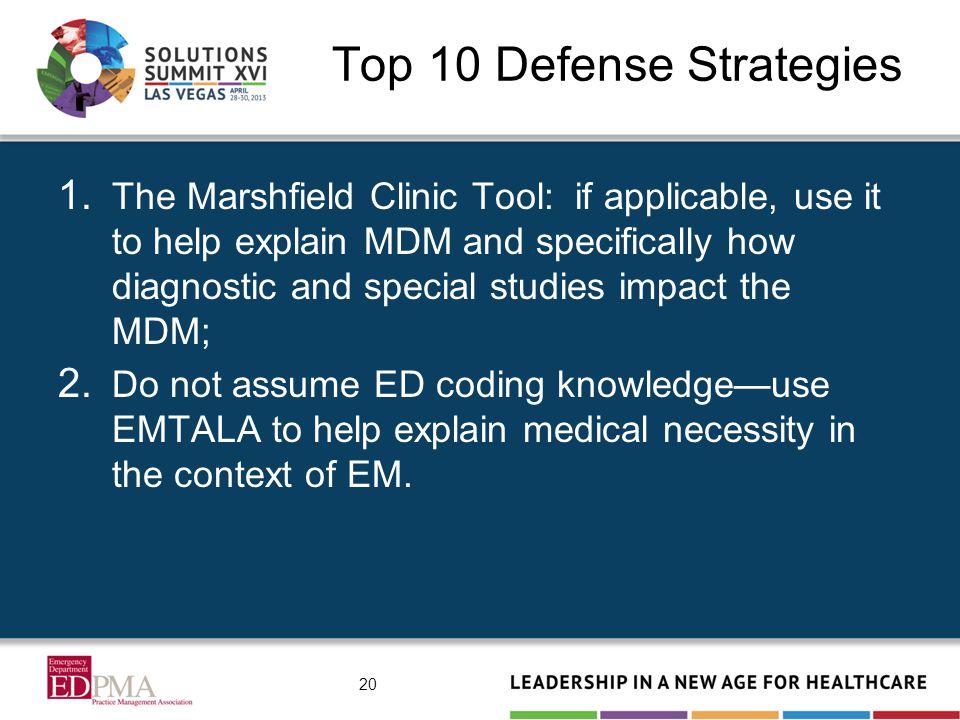 Top 10 Defense Strategies 1.