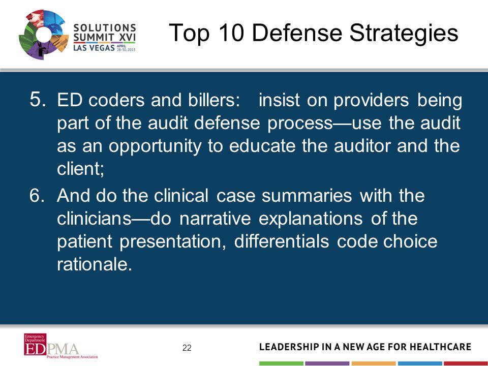 Top 10 Defense Strategies 5.
