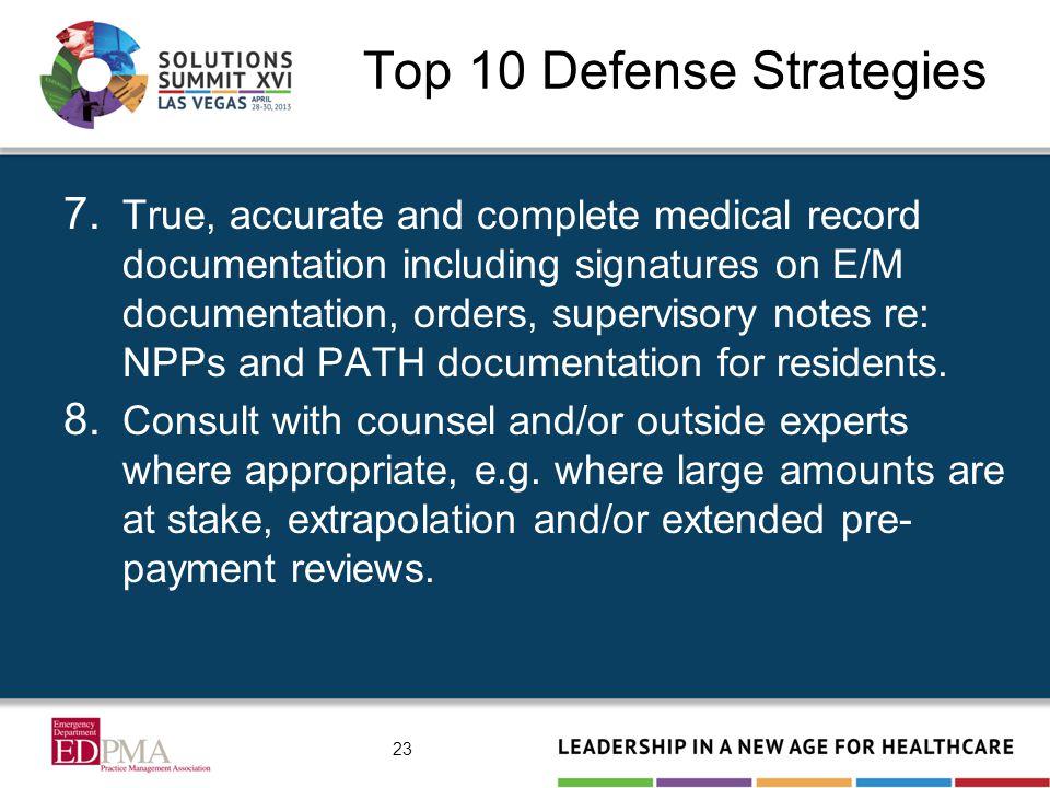 Top 10 Defense Strategies 7.
