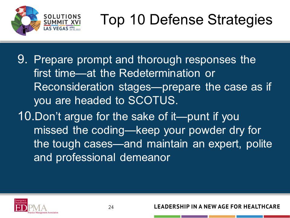 Top 10 Defense Strategies 9.